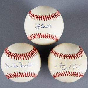 Willie Mays, Yogi Berra, Duke Snider, Signed ONL Baseballs - JSA