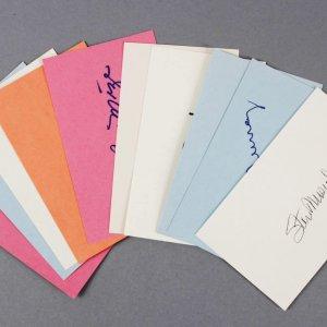 Baseball HOFer's Signed 3x5 Index Cards (10) - Willie Stargell etc. - JSA