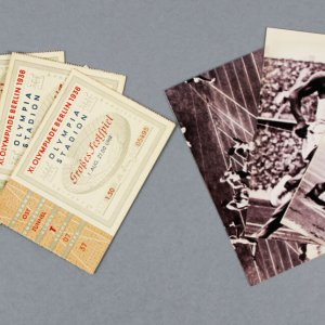 1936 Olympic Games Berlin Ticket Stubs Lot (5) Incl. Opening Ceremony, Soccer etc.