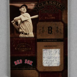 2004 Donruss Classics Ted Williams Game-Worn Jersey Baseball Card Boston Red Sox 2/10
