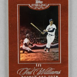 2006 Topps Sterling Ted Williams Boston Red Sox 1/1 Baseball Card #60 Cherry Wood