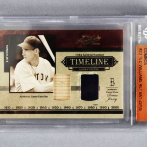 2004 Playoff Prime Cuts Ted Williams Timeline Material Combos 9/9 Baseball Card - Beckett Slab