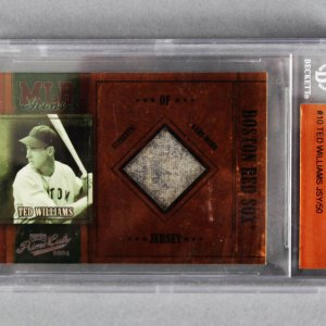 2004 Playoff Prime Cuts Ted Williams MLB Icons Material 22/50 Baseball Card - Beckett Slab