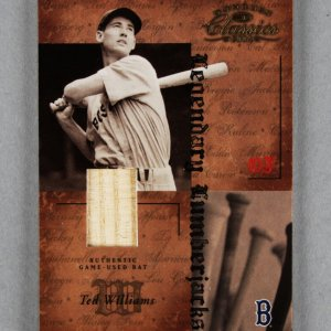 2004 Donruss Classics Ted Williams Game-Used Baseball Bat Card Red Sox 18/25
