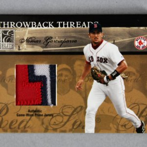 2004 Donruss Elite Ted Williams & Nomar Garciaparra Game-Used Jersey Baseball Card Red Sox 4/5 Throwback Threads