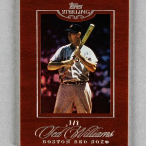 2006 Topps Sterling Ted Williams Boston Red Sox 1/1 Baseball Card #58 Cherry Wood