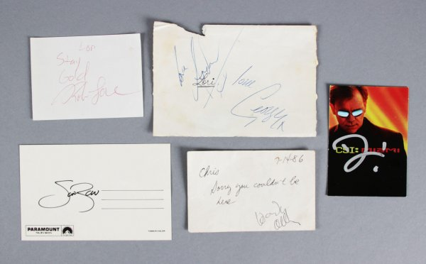 5  Entertainment Lot George Michael, Woody Allan, Scott Baio, Rob Lowe, David Caruso