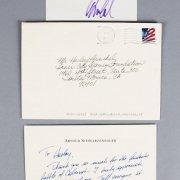 Arnold Schwarzenegger Signed Handwritten Note & Cut - JSA