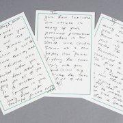 Eunice Shriver Handwritten Letter To Arnold Schwarzenegger