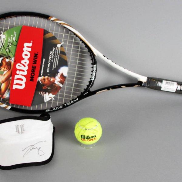 Venus Williams Signed Tennis Racket, Visor & Ball - JSA
