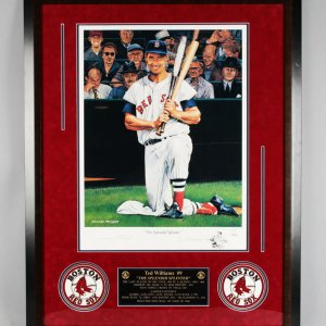 Ted Williams Signed Boston Red Sox Lithograph - JSA Full LOA