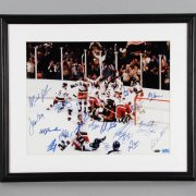 Miracle On Ice Team-Signed 16x20 Photo - COA Steiner