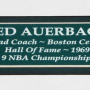 Red Auerbach Signed Boston Celtics Floorboard Display - JSA