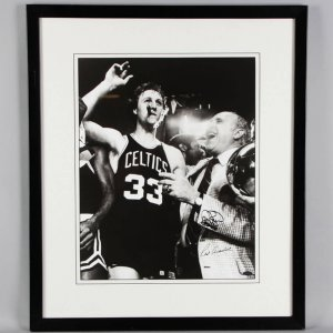 Larry Bird & Red Auerbach Signed 16x20 Boston Celtics Photo - COA Steiner