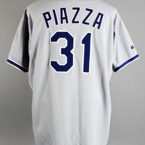 1996 Mike Piazza Game-Worn Los Angeles Dodgers Jersey - COA 100% Team