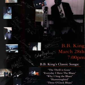 B.B. King & All Band Members/Crew Members Signed Poster - JSA