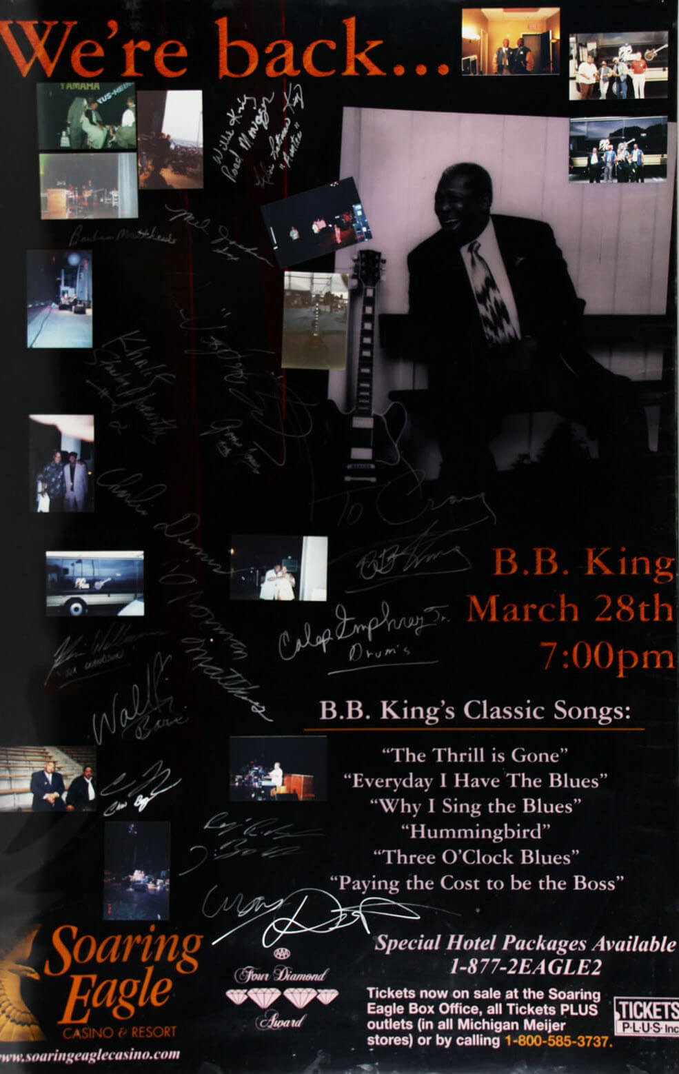 B.B. King & All Band Members/Crew Members Signed Poster - JSA