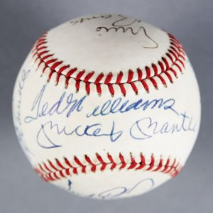 500 HR Club Multi-Signed Baseball - Mickey Mantle etc. - JSA