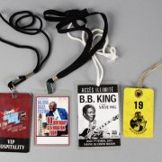 Lot of B.B. King's Backstage Passes, Pins, Guitar Picks & Tour Books