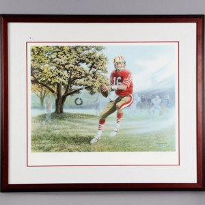 Joe Montana Signed SF 49ers Lithograph - JSA