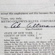 Sept. 14, 1934 Red Skelton Signed MGM Contract - PSA/DNA