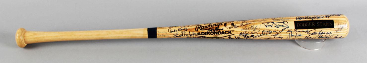 Dodger Stars Multi-Signed Baseball Bat - Duke Snider etc. - COA JSA