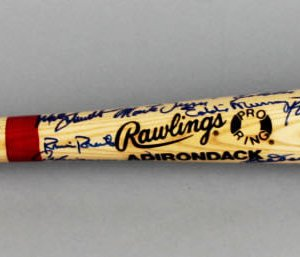 HOF Multi-Signed Baseball Bat - Hank Aaron, Don Drysdale, Catfish Hunter etc. - JSA
