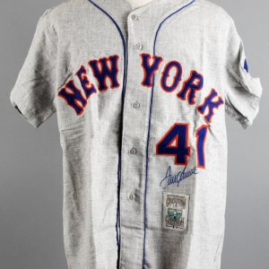 Tom Seaver Signed New York Mets M&N Jersey - JSA