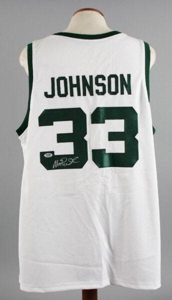 Magic Johnson Signed Michigan State Spartans Jersey - COA PSA/DNA