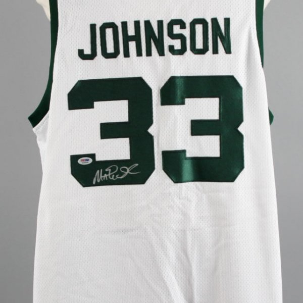 Magic Johnson Signed Michigan State Spartans Jersey - COA PSA/DNA