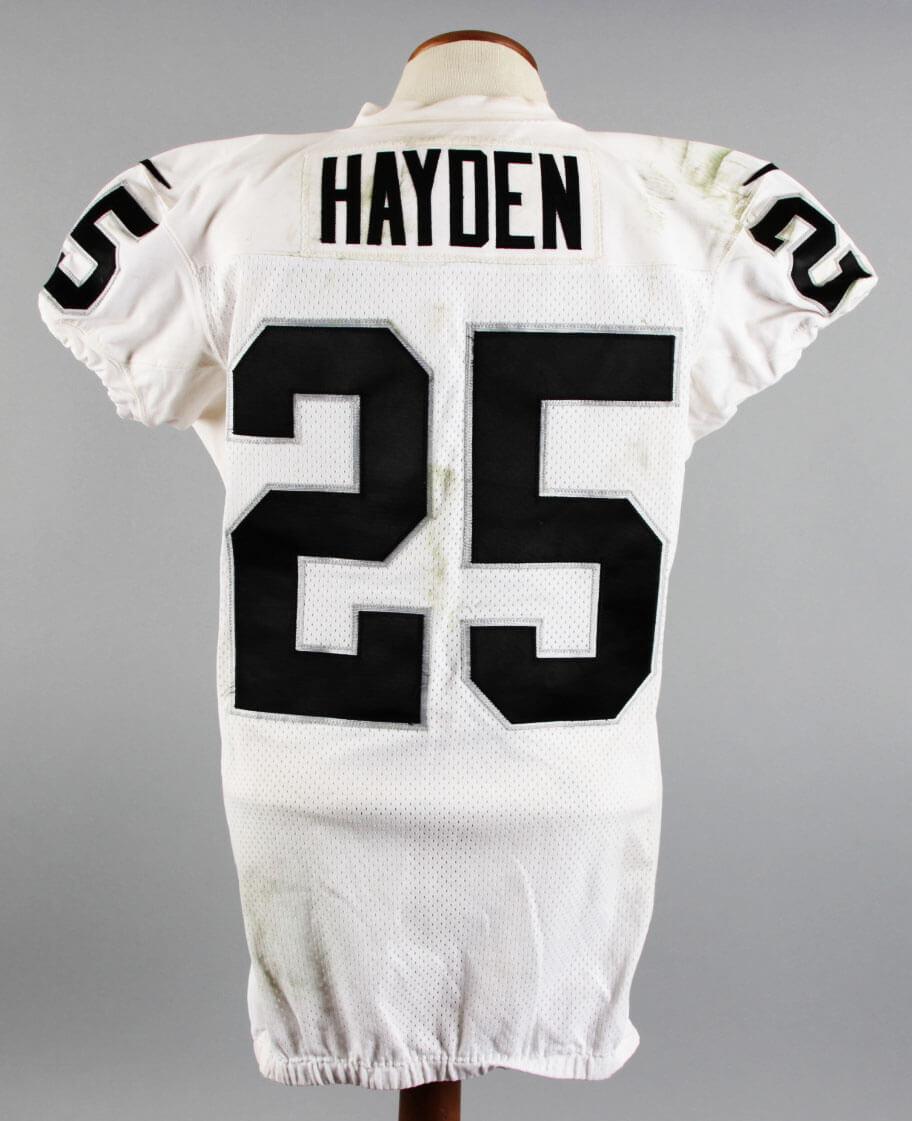 online store ac0d9 ef6be 2014 D.J. Hayden Game-Worn Oakland Raiders Jersey (11 ...