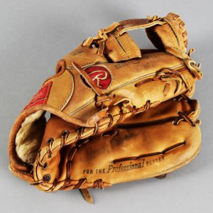 Johnny Bench Game-Used, Signed Baseball Glove