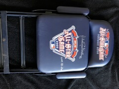 2005 MLB All Star Game On Field Chair field used chair Used Signed by Johann Santana