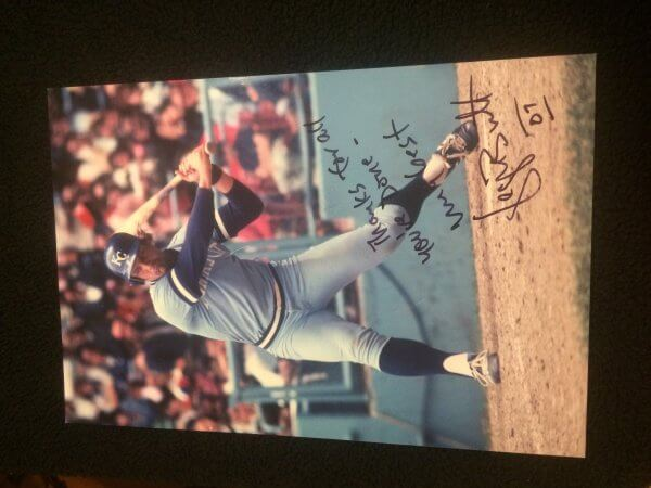 Kansas City Royals George Brett Signed  11x17 with inscription