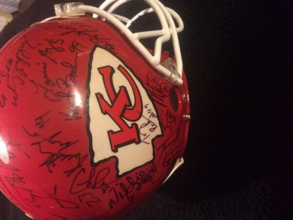1995 Kansas City Chiefs Team Signed Authentic Pro Line Helmet Derrick Thomas