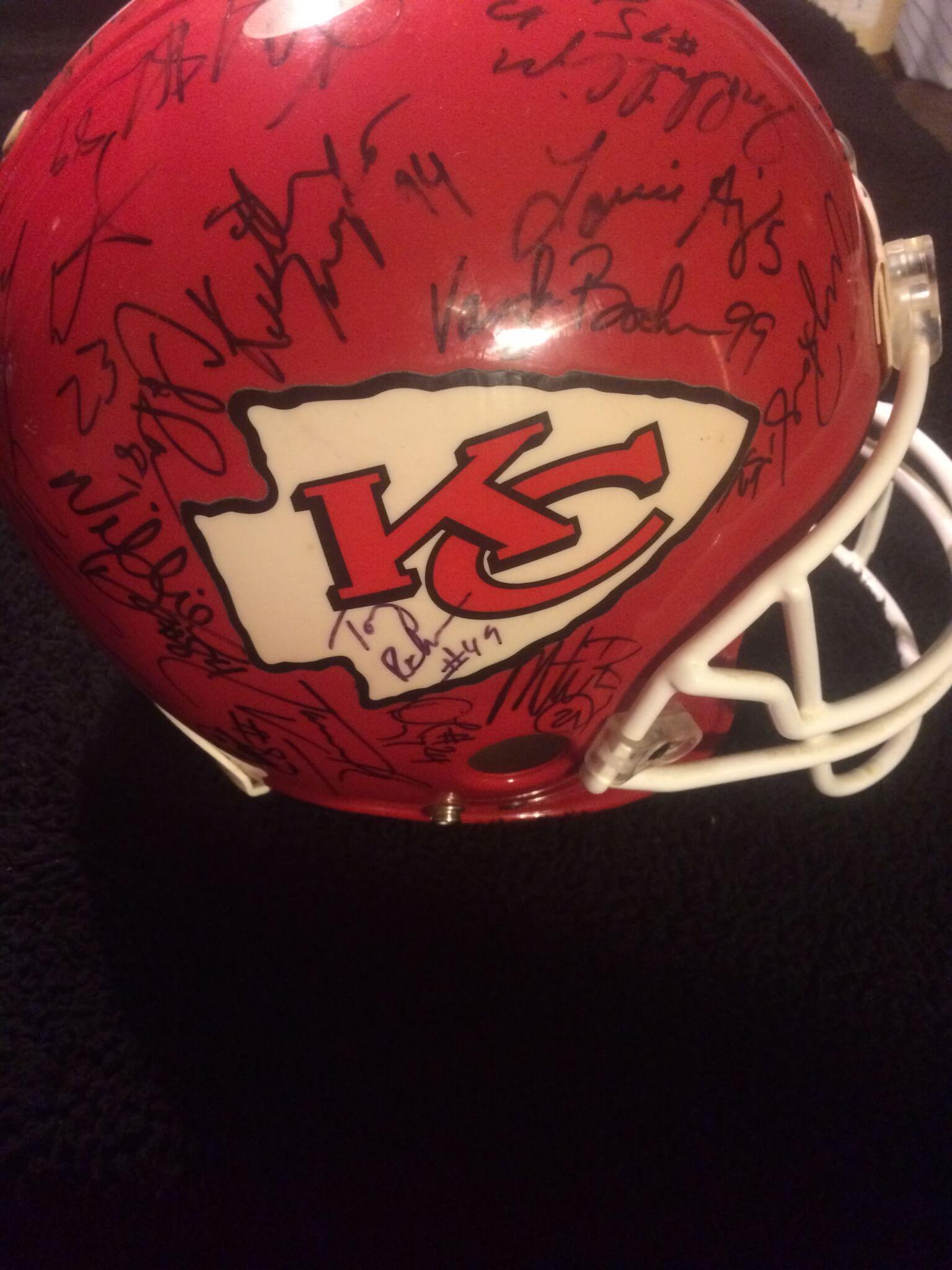 1995 Kansas City Chiefs Team Signed Authentic Pro Line Helmet Derrick Thomas