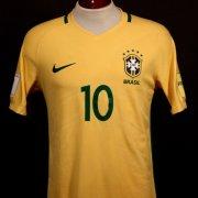A Neymar Jr. Game-Used #10 Brazil Home Shirt.  2018 FIFA World Cup Qualifiers (CONMEBOL).