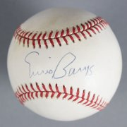 Ernie Banks Signed Chicago Cubs Baseball - COA