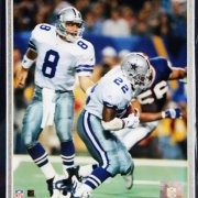 Superbowl Champions - Dallas Cowboys Troy Aikman & Emmit Smith Ring Display