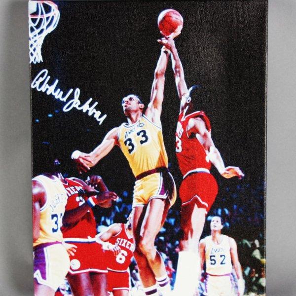 LA Lakers - Kareem Abdul-Jabbar 11x14 Photo -Glycee W/Facismile Signature