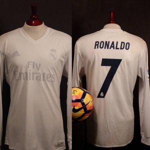 A Cristiano Ronaldo Game-Used #7 Real Madrid CF Home Shirt + Match Ball + Programme.  11/26/2016 Real Madrid v Sporting Gijon.