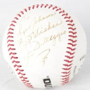 Joe DiMaggio Signed Inscribed (To Lou Johnson Best Wishes) Baseball