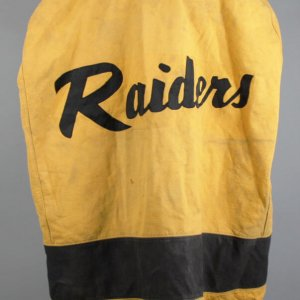 1960s Jim Otto Game-Worn Oakland Raiders Rookie Era Sideline Cape (Player Letter & 100% Team LOA)