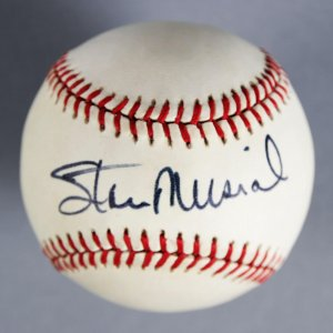 Stan Musial Signed St. Louis Cardinals Baseball - COA