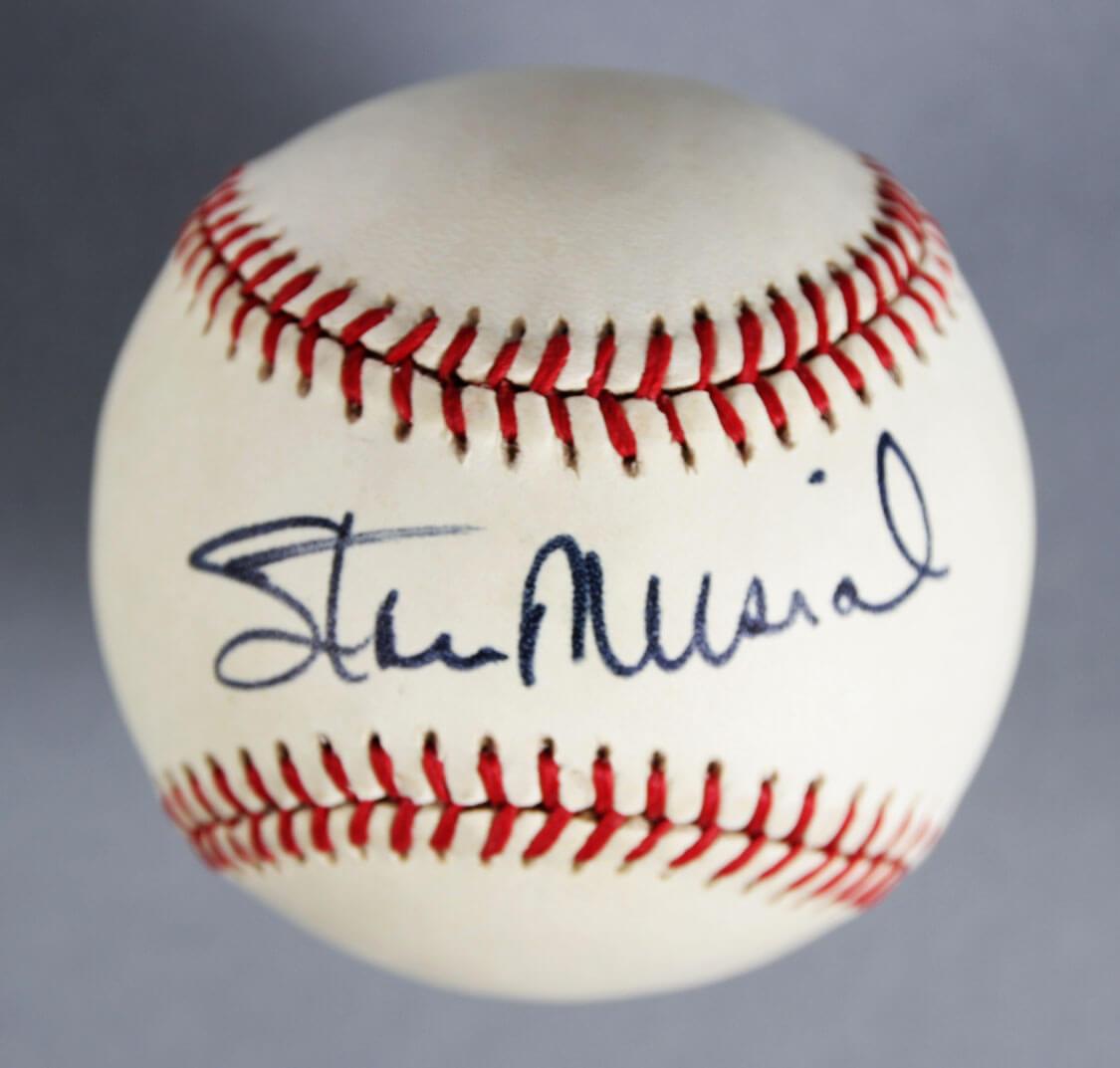 Stan Musial Signed St. Louis Cardinals Baseball - COA