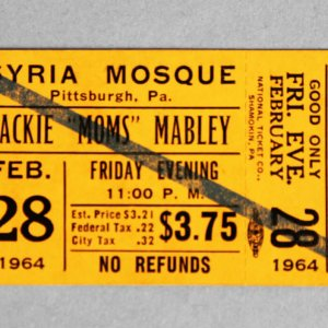 1964 Feb 28 Moms Mabley Tour Unused Full Syria Mosque Pittsburgh, Pa