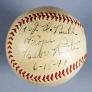 Babe Ruth Signed, Inscribed & Dated New York Yankees Baseball - PSA/DNA & JSA Full LOA's