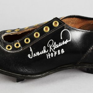 "Frank Robinson Signed Inscribed ""HOF 82"" Baltimore Orioles Baseball Cleat - COA 100% Team"