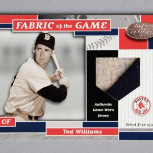 2002 Leaf Certified Ted Williams Game-Worn Jersey Card Fabric of the Game 35/39 FG-26 Swatch