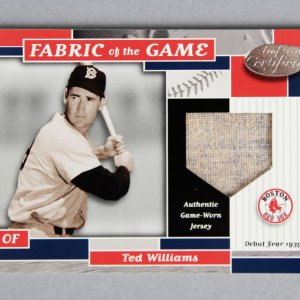 2002 Leaf Certified Ted Williams Game-Worn Jersey Card Fabric of the Game 9/39 FG-26 Swatch